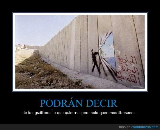 Graffiti,Libertad,Muro,Prejuicios