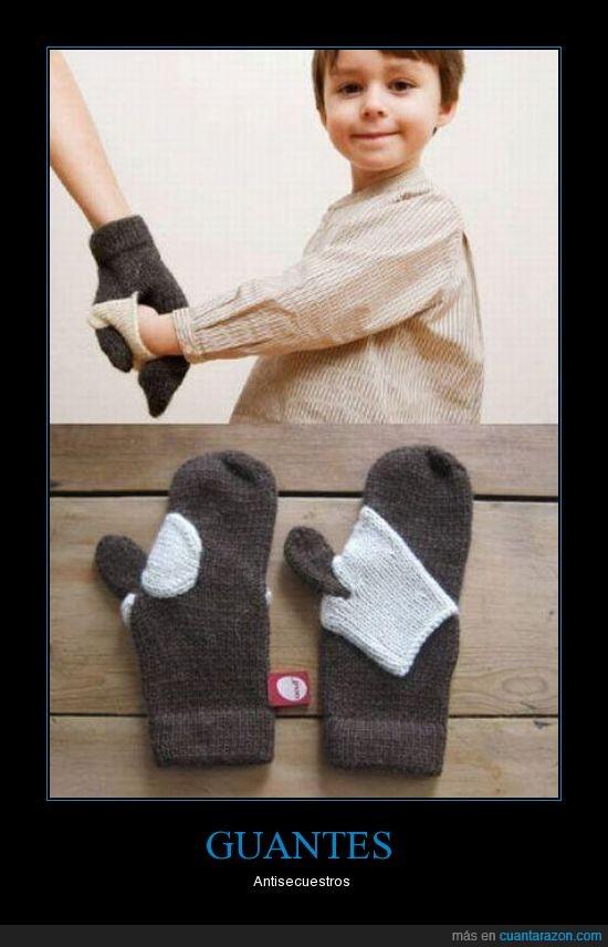 guantes,madres,niños
