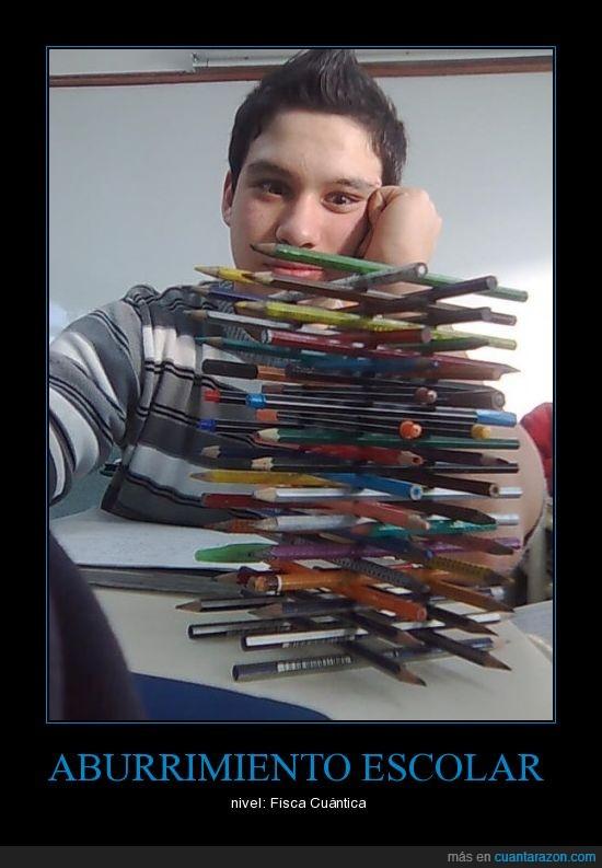 bolis,clase,lápices