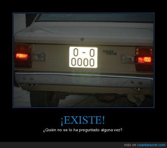 ceros,coche,existe,matrícula,O-0000-O,oviedo