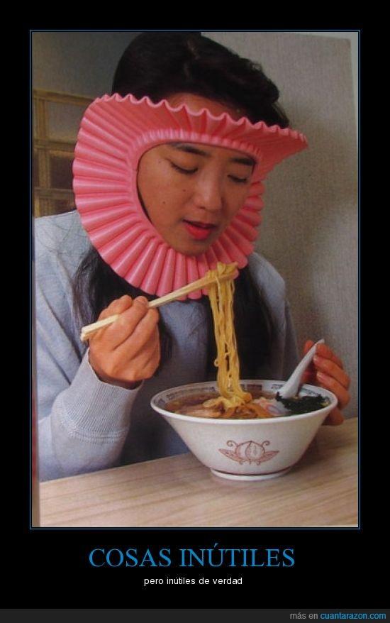 chindogu,chino,comer,fideo,inútil,raro,rosa