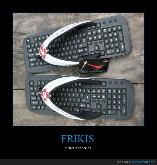 sandalias,teclado,tongs