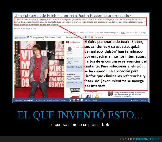 Firefox,Justin Bieber,plugin