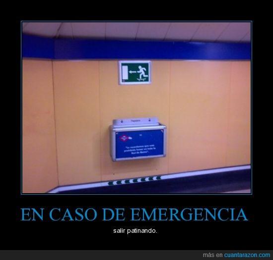 emergencia,metro,patinaje,salida,skate