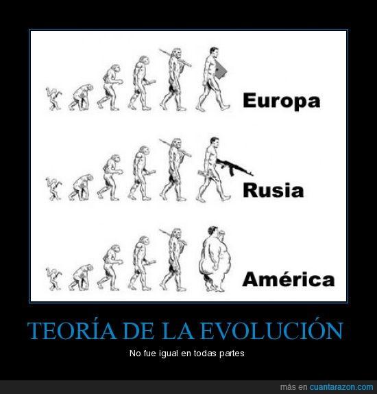 américa,diferente,europa,evolución,rusia