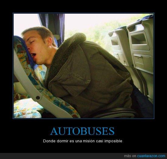 autobuses,dormir,imposible,incomodo