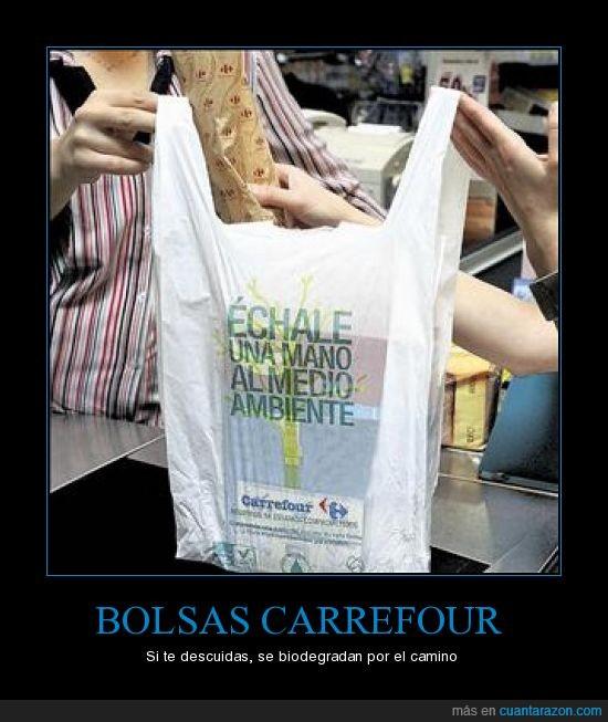 biodegradable,bolsas,carrefour,romper