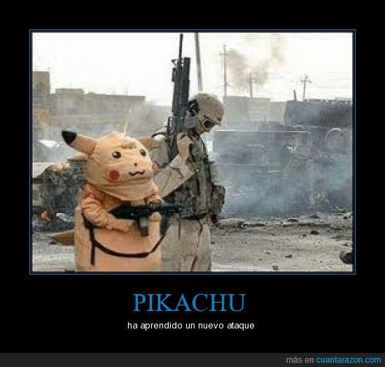 disfraz,disparar,guerra,pikachu