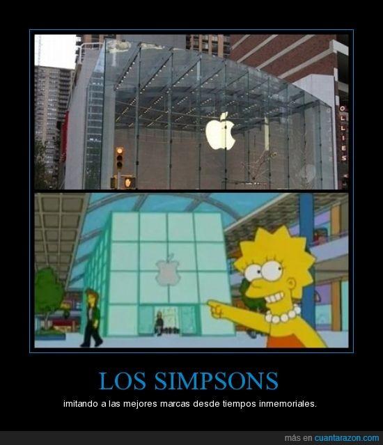 apple,marcas,simpsons