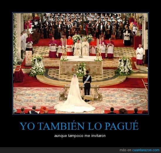 boda,españoles,impuestos,pagar,príncipes,real,realeza