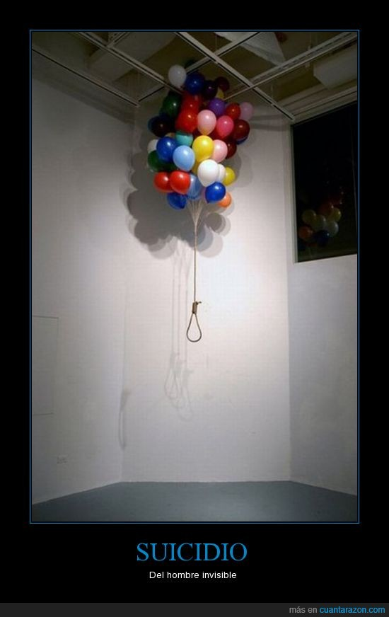 globos,hombre,horca,invisible,suicidio