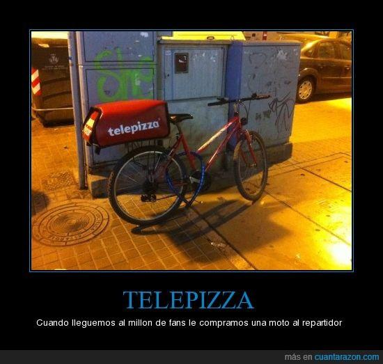 bici,dominos,napoli :),pizza,repartidor,telepizza