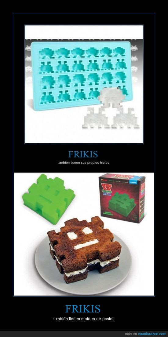 frikis,hielo,pastel,space invaders