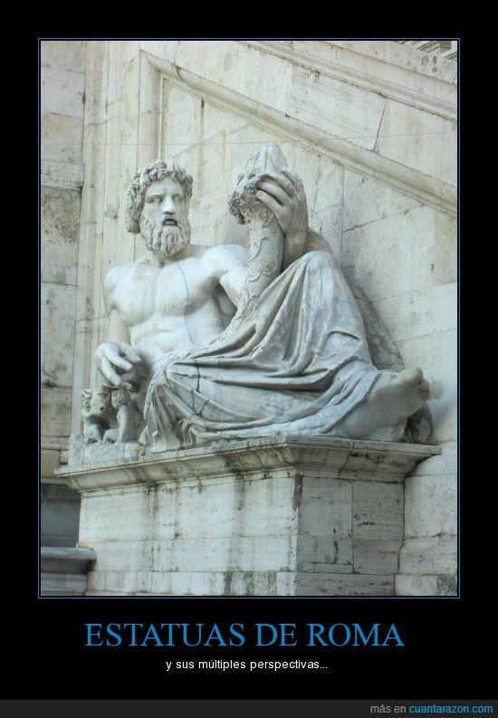 estatua,grande,miembro,roma