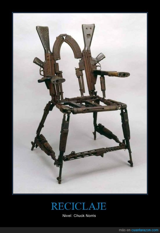 armas,reciclar,silla