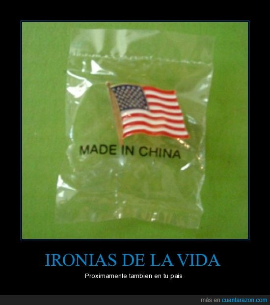 bandera,ironia,made in china