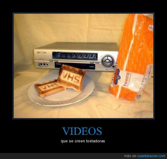 pan,tostadora,vhs,video