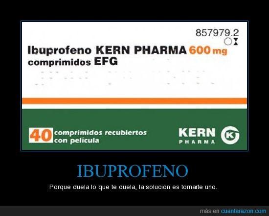 automedicación,comodín,ibuprofeno,medicamento