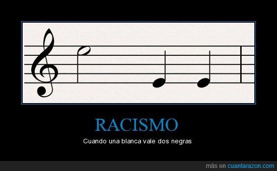 blanca,negras,notas,pentagrama,racismo
