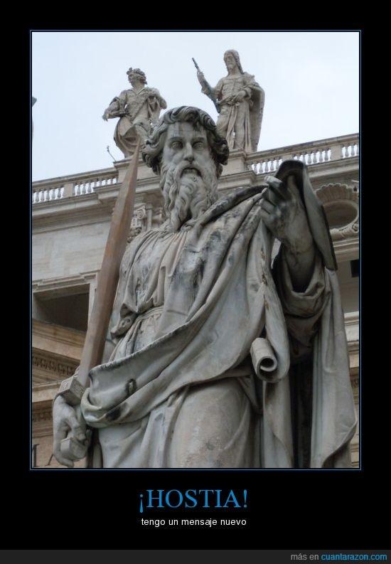 estatua,mensaje,movil,roma