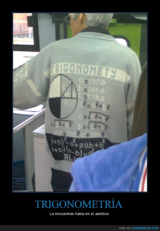 autobús,matemáticas,trigonometría