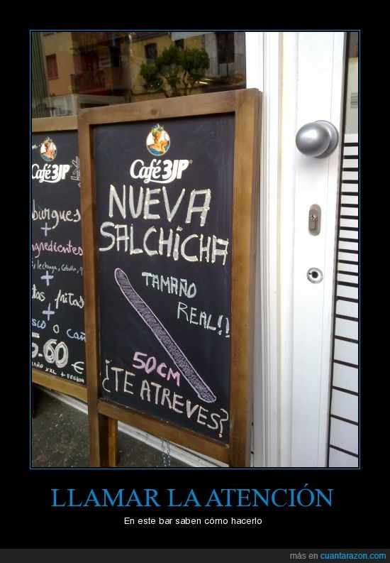 bar,real,salchicha,tamaño