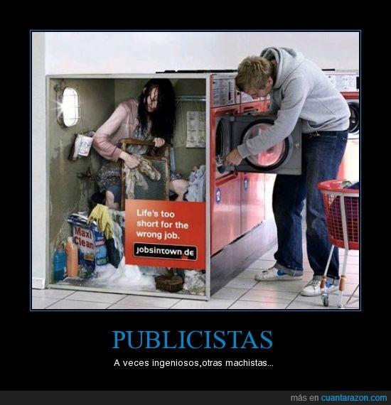 lavadora,lavandería,lavar,machismo,publicidad,ropa