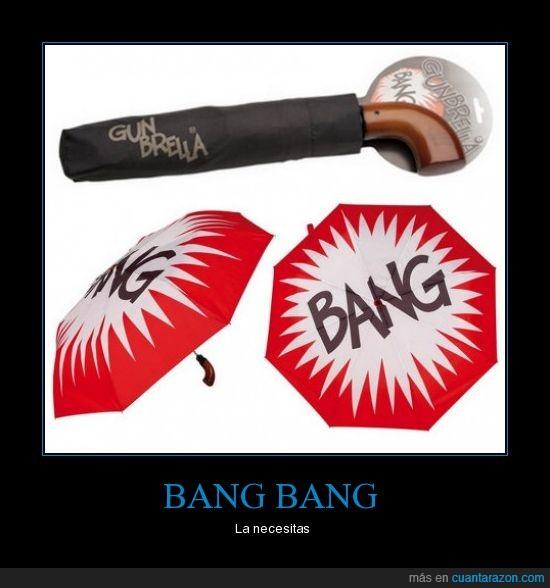 bang,disparar,paraguas,pistola