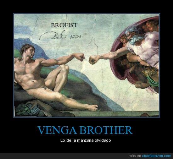 adan,brother,dios,eva,fist,hermano,puño