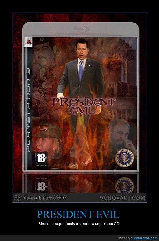 Chavez,presidente,Resident evil