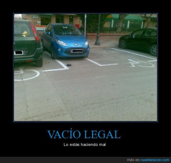 coche,legal,minusválidos,prohibido,vacio