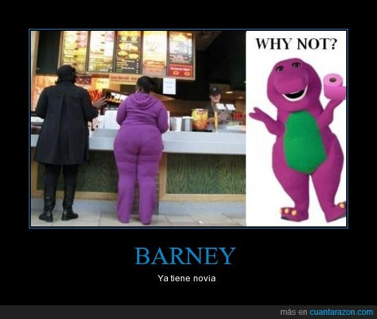 amor,barney,comida,fail,gorda