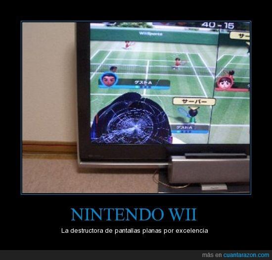 accidente,consola,pantalla,plana,televisor,Wii