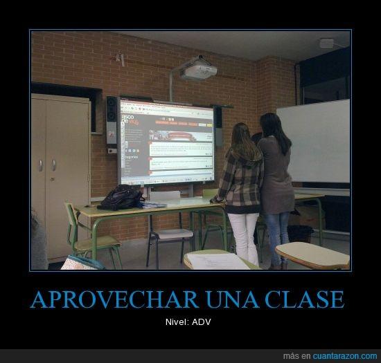 adv,aprovechar,estudiar,pantalla