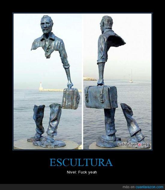 curiosa,escultura,faro,mar,vacío