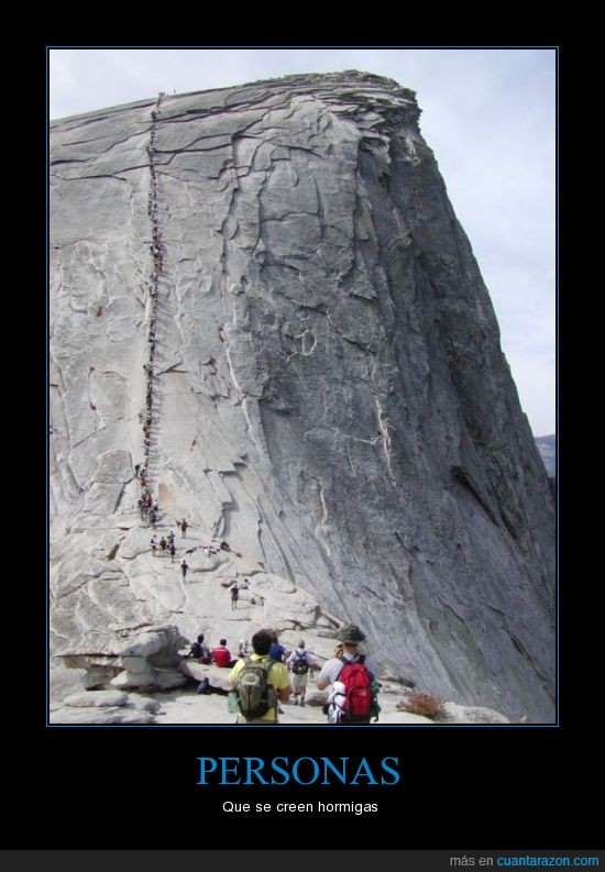 creer,enorme,hormigas,montaña,personas
