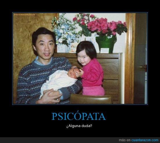 bebe,cara,niña,psicopata