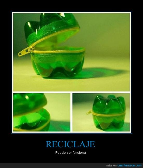botella,monedero,reciclar,util