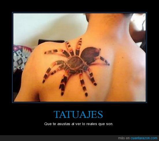 3d,Araña,Real,tarántula,Tatuaje