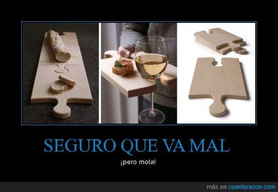 cortar,puzle,tabla,tapas,vino