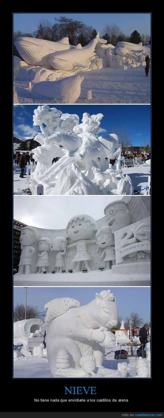 esculturas,nieve