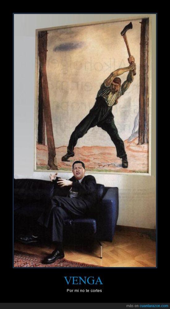 cuadro,hacha,Hugo Chávez