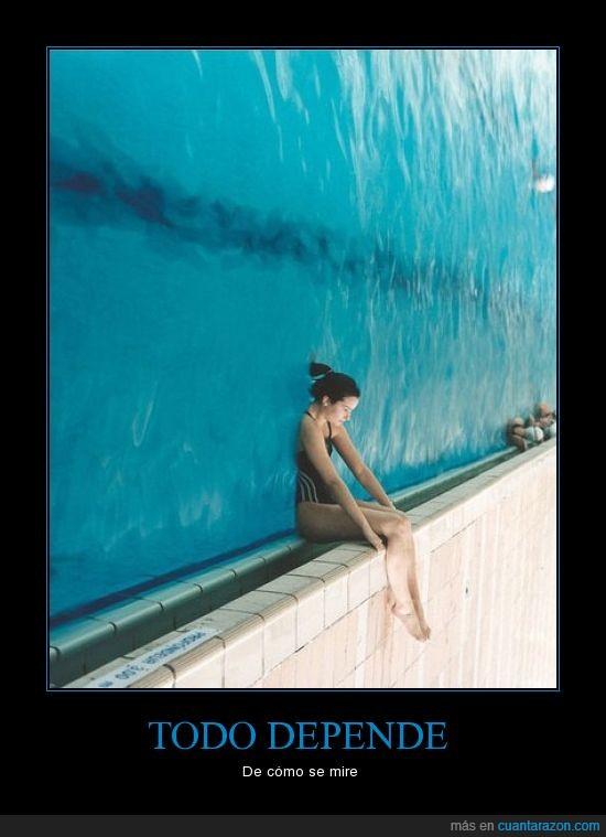 agua,ángulo,chica,piscina,prespectiva