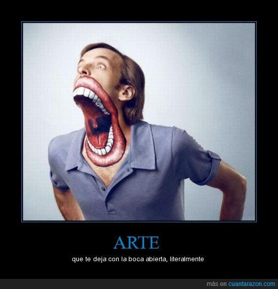 arte,boca,dibujo