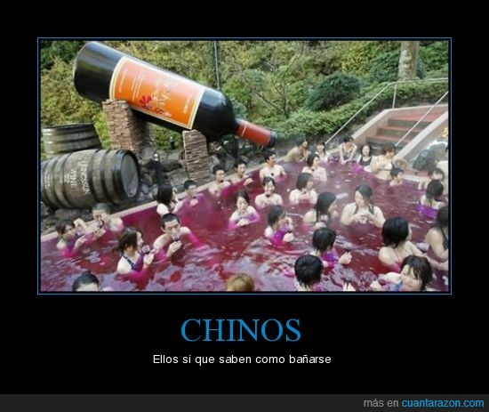 bañar,chinos,vino