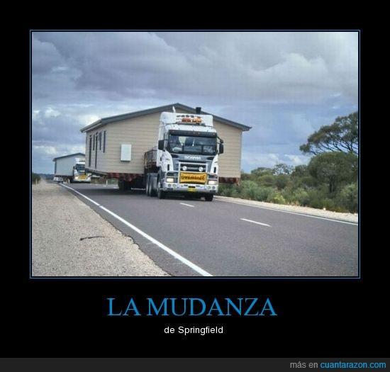 camión,casa,simpson,springfield