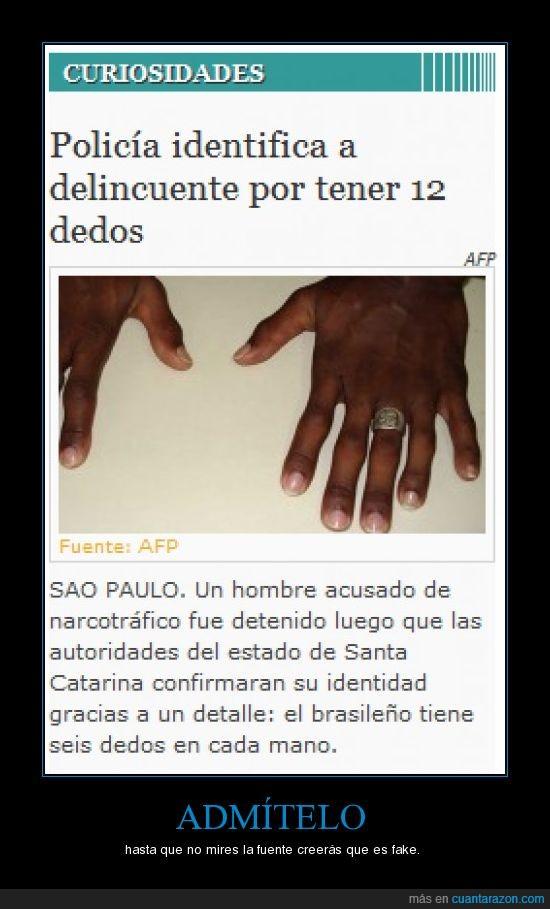 dedos,delincuente,policia,seis