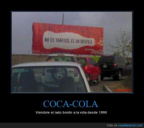 cartel,coca-cola,desfile,tráfico