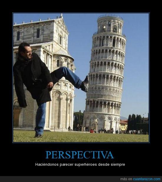 patada,perspectiva,pisa,superheroe,torre