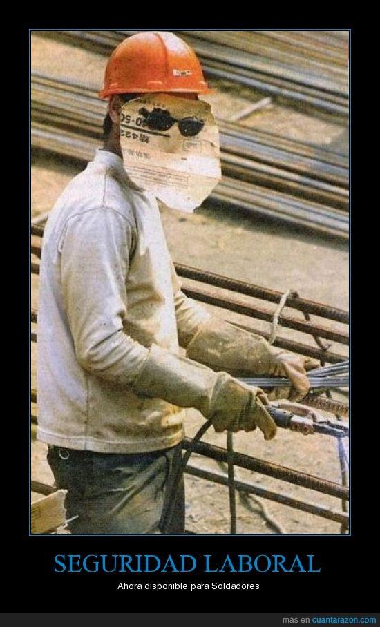 Seguridad laboral trabajo soldador